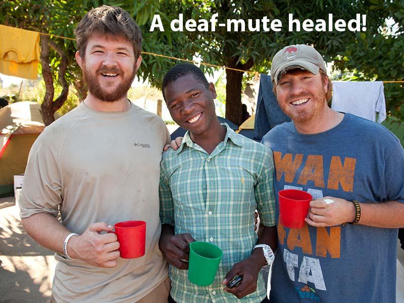 deaf-mute healed!