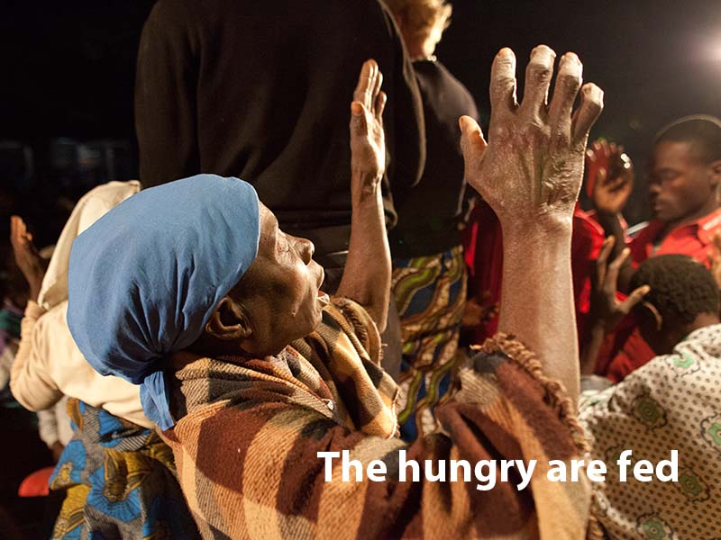 the hungry are fed