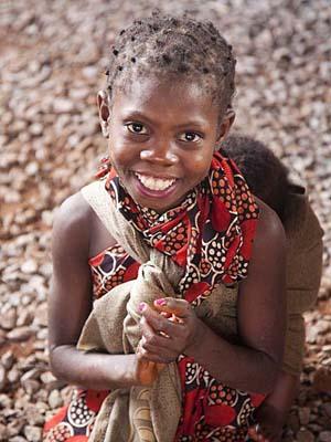 Colorful village girl