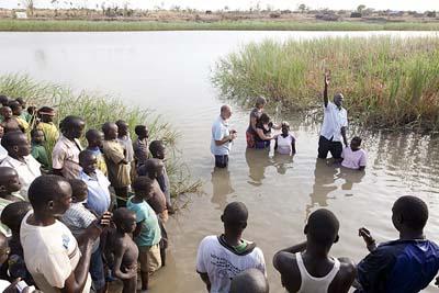 Baptism in Sudan