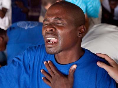 Pastor worshiping