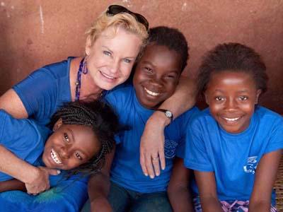 Heidi with girls